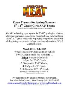 Tryout Flyer All Grades Summer 2015